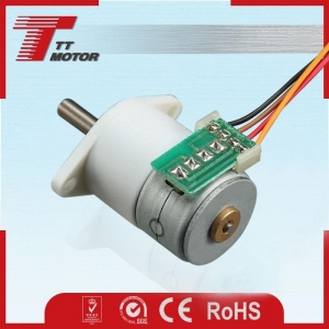 China Appliance Usage Low Speed Low Noise DC12V Bipolar 18 Degree Stepper Motor with Gearbox on sale