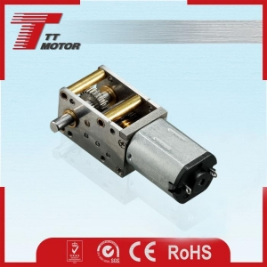 China 12V/24V Mini Worm Gear Design with Brushed DC Motor Could Use for 3D Printing Pen on sale