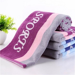 China Customized Yarn Dyed Jacquard Sports Towel in Stock on sale