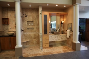 China Bathroom Beige Travertine Stone Tile For Floor And Wall on sale