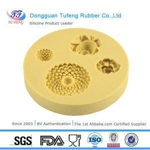 China Silicone Kitchenware Beautiful Flower Shape Instant Fondant Silicone Lace Mold Clay Molds on sale