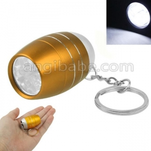 China Cute Mini Aluminum Alloy White 6 LED Key Chain Flashlights LED Key Chain Flashlights on sale
