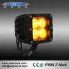 China IP69K Waterproof AURORA 2inch Amber Cube Light Amber Amber Light Bulbs for sale