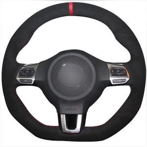 China Steering Wheel Covers For Men For Volkswagen Golf 6 GTI MK6 VW Polo GTI Scirocco R on sale