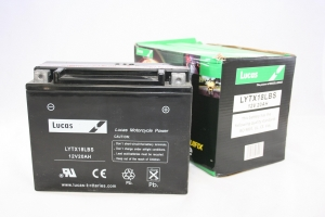 China Lucas YTX18LBS High Performance Motorcycle Battery AGM GEL Liquifx on sale