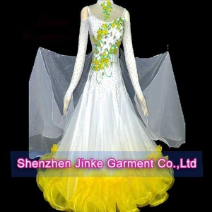 China LA0279 White Ballroom dance skirts on sale