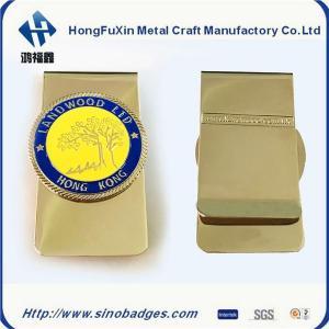 China Men's Business Wallet Gift Copper Slim Money Clip Credit Card Holder on sale