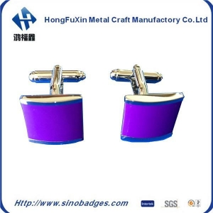 China Natural Amethyst Gem Stone Solid 925 Sterling Silver Men's Cufflink Jewelry on sale