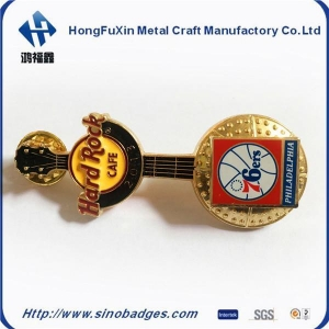 China Music Gittar Bar Enamel PIN Badge Button Lapel Band Notes Lyrics Heart New on sale