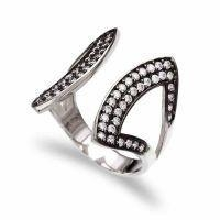 China Factory Direct Sale Hot Sell Simple Design 925 Silver CZ Rings on sale