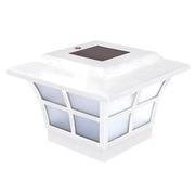 China Prestige White (2 - Pack)Solar Powered Post Cap 4 x 4 on sale
