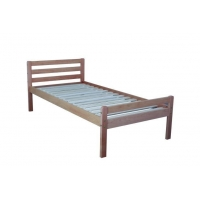 China new model design good-quality fashionable pine wood adult single beds on sale