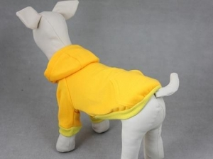 China Blank Basic Dog Hoodie-Yellow MDH-C on sale