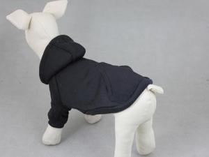 China Blank Basic Dog Hoodie-Black MDH-D on sale