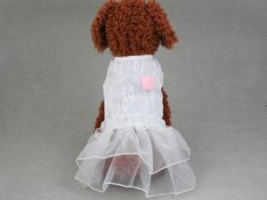 China Pet Luxury Princess Lace Bridal Wedding Dress H-1608 on sale