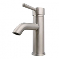 China Premium Brushed Nickel Surface Finished Bathroom Sink Faucets Plumbing Fixtures Water Faucets on sale