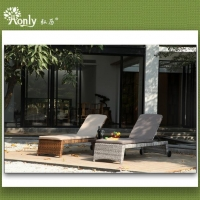 Adjustable Garden Chaise Lounge Chairs Or Sun Bed