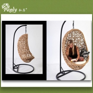 China Synthetic Rattan Bird Nest Swing Hanging Egg Chairs on sale