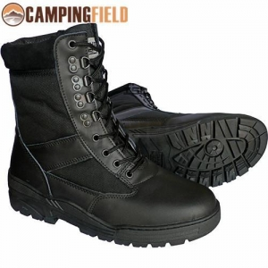 China Black Leather Army Patrol Combat Boots on sale