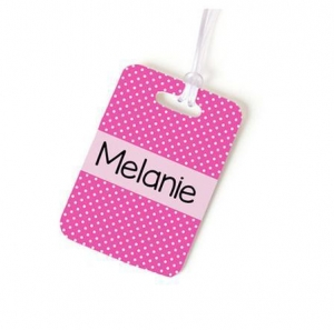 China Pink Wedding Luggage Tags Personalized Bag Tags for Kids PL-004 on sale