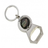 China Viva Mexico Business Branded Bottle Opener Spinning Metal Keychain Silver BK-030 for sale