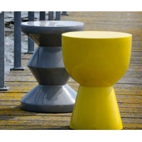 China Stools and furniture Polyresin lacquer stools and tables made in Vietnam on sale