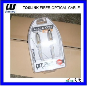 China Toslink fiber optical cable on sale