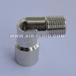 China Cixi Air-Fluid Equal Elbow Metric/BSPT Male x Metric/BSPP Female Thread Brass Fittings on sale