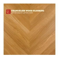 White Oak Chevron Parquet Wood Flooring