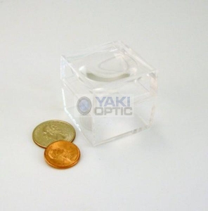 China 1.5 Inch Acrylic Specimen Bug and Coin Magnifier Boxes with Magnifying Lid (Pack Of 10 Boxes) on sale
