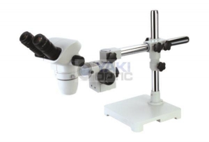 China Engraving Use 7X-180X Binocular Stereo Boom Flexible Stand Microscope with Fluorescent Ring Light on sale