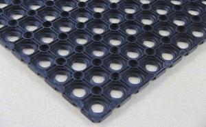 China Anti Slip Rubber Mat Anti Slip Grass Mat Anti Fatigue Rubber Ring Mat on sale