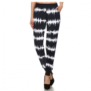 China Floral Plus Size Jogger Pants on sale