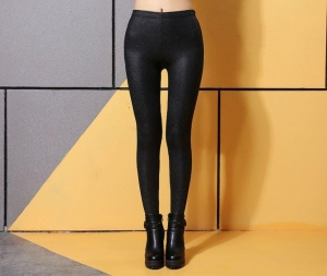 China Luster Faux Leather Leggings on sale