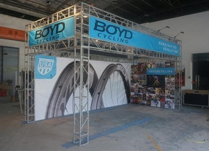 China 20x30ft Bicycle Advertising Trade Show Truss Booth on sale
