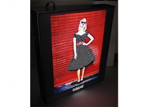China Pouder Coating Black Frame Advertising LED Fabric Light Box For Cloths on sale