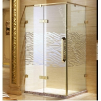 Single Semi-fold Toughened Safety Glass Shower Door Enclosure