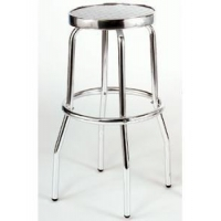 Aluminum Backless Swivel Bar Stool
