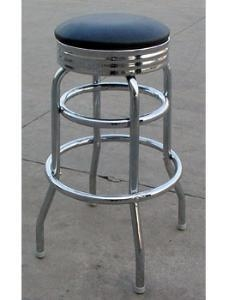 China Chrome Circle Swivel Bar Stool on sale