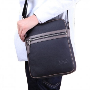 China Mens Pure Leather Leisure Crossbody Shoulder Bag on sale