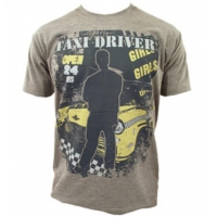 Taxi Driver Mens Grey T Shirt