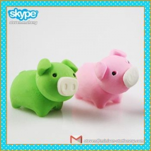 China 3D animal shaped erasers, puzzle eraser on sale