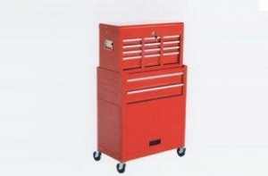 China Industrial Use 0.6mm - 0.8mm Red 6 Drawer Top chest & 2 Drawer Tool Chest Roller Cabinet on sale