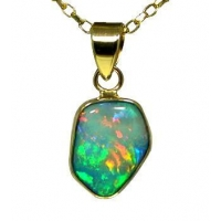 Freeform Opal Doublet in 9K Yellow Gold