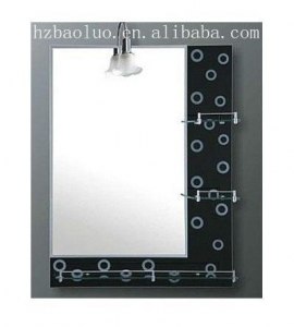 China Mirror Frameless mirror with glass shelf on sale