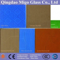 China 4-12mm Tinted Patterned Acid Etched Glass with CE SGS on sale