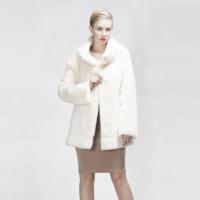 New Style Fashion Luxury Medium Fur Coat Winter Outdoor Warm Dyed Mink Clothes Women