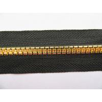 China Plastic zipper Plastic gold teeth zipper long chain on sale