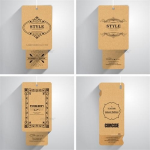 China Paper box Hangtag label on sale