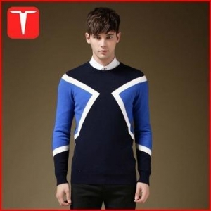 China 2016 intarsia fashion pullover model sweater for men on sale